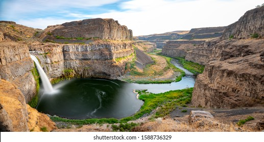 Unique perspective of the Palouse Falls