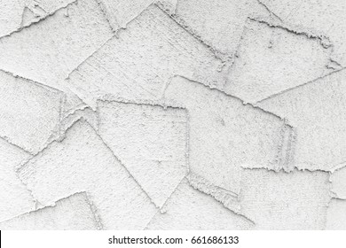 Background of Wet Plaster with a Composition of Abstract Outlines