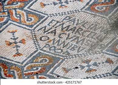 Unique Roman mosaics in the old part of the city of Grado in Friuli Venezia Giulia, Italy
