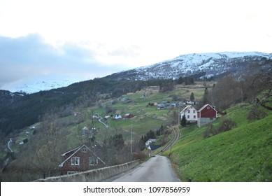 Unique scenic landscapes in NordFjord, NordFjorden, Norway