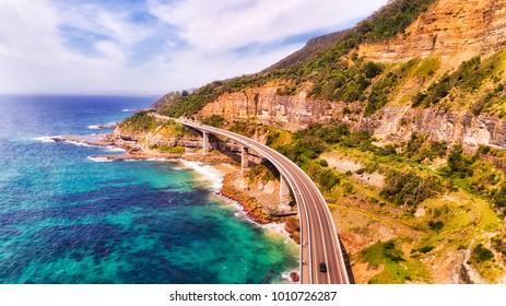 Unique Sea Cliff Bridge on the Grand Pacific drive