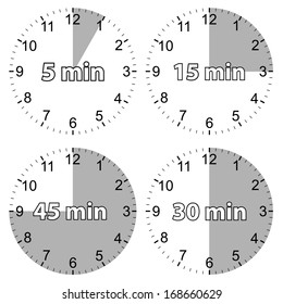 A unique set of hours on a white background