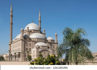 Unique view of mosque of  ʿAmr ibn al-ʿĀs in Cairo