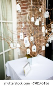 unique wedding guest book tree of messages