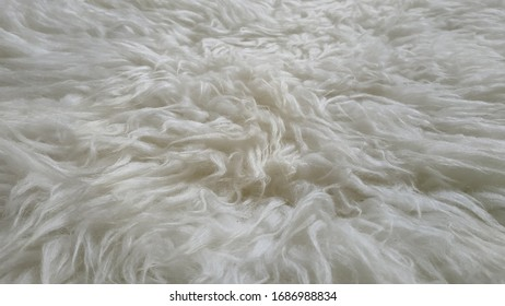 Unique white fur background for decoration