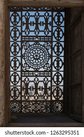 Unique window in the great mosque of muhammad ali pasha in cairo, egypt.