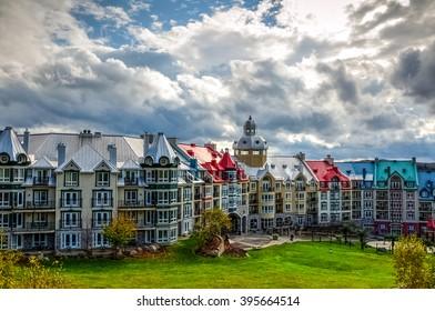 The unique and wonderful Mont-Tremblant resort village, Quebec, Canada