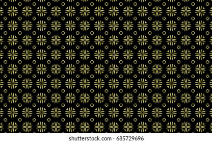 Unique yellow, circular designs on a black background.