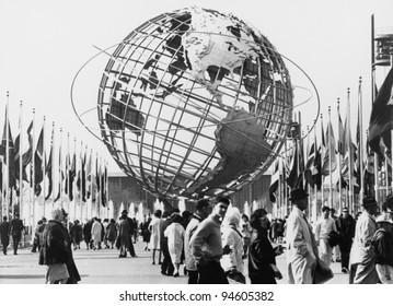 The Unisphere, symbol of the New York 1964-65 World's Fair. Flushing Meadow Park, New York