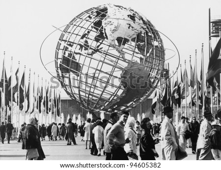 The Unisphere, symbol of the New York 1964-65 World's Fair. Flushing Meadow Park, New York