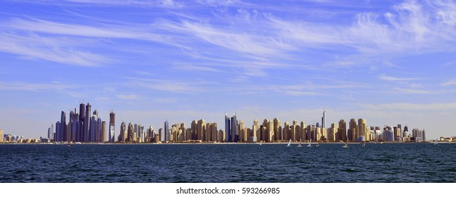 United Arab Emirates: Dubai marina skyline