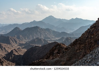 United Arab Emirates mountains view form Wadi Al Qor to Buraq Dam highest place around 800 meters