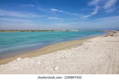 United Arab Emirates (UAE), Sir Bani Yas island sea beach, Abu Dhabi, Persian Gulf