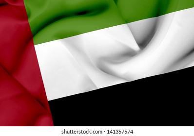 United Arab Emirates waving flag