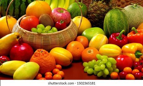 United color of mix fruit and vegetables
