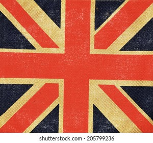 United Kingdom abstract grungy vintage flag