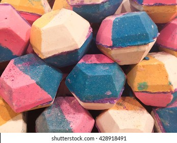 United Kingdom - April  2016: The Experimenter, bath bombs from Lush cosmetics. Lush is a popular UK high street store for cosmetic products. Editorial use only