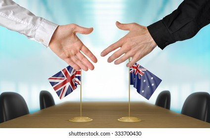 United Kingdom and Australia diplomats agreeing on a deal