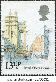UNITED KINGDOM - CIRCA 1980: A stamp printed in England, shows Royal Opera House, circa 1980