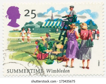 UNITED KINGDOM - CIRCA 1994: A stamp printed in United Kingdom shows Summertime Wimbledon, circa 1994