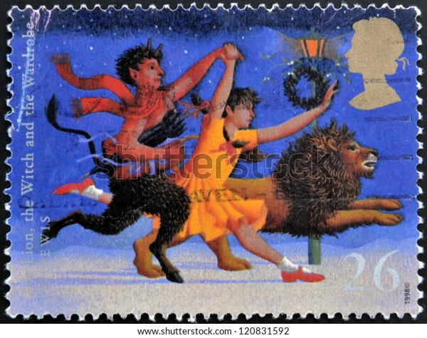 UNITED KINGDOM - CIRCA 1998: A stamp printed in Great Britain shows The Lion, The Witch and the Wardrobe (C.S. Lewis), circa 1988