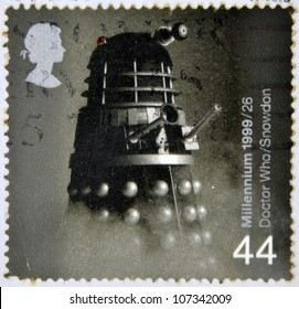 UNITED KINGDOM - CIRCA 1999: A stamp printed in Great Britain shows Doctor Who, Dalek, circa 1999