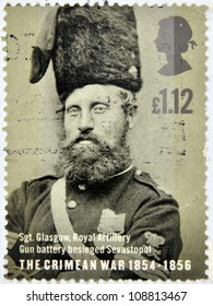 UNITED KINGDOM - CIRCA 2004: a stamp printed in Great Britain shows a portrait of Sergeant Glasgow who participated in the Crimean War, circa 2004