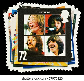 UNITED KINGDOM - CIRCA 2007: A British Used Postage Stamp showing The Beatles Pop Group Album Cover, circa 2007