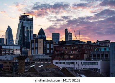 United Kingdom downtown sunset view