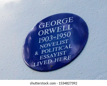 United Kingdom, England, London / 2010 April 22nd / George Orwell blue plaque in London