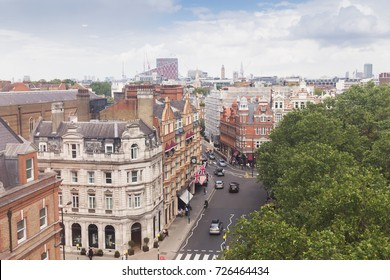 United Kingdom, England, London - 2016 June 17: Kings road and cityscape view from top floor