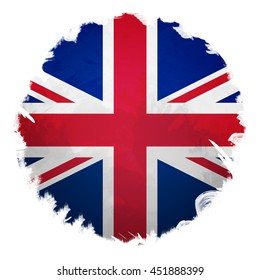 United Kingdom flag, digital art effect.