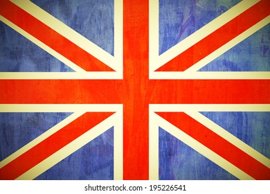 United Kingdom flag painted in grunge style texture