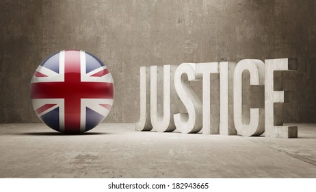 United Kingdom High Resolution Justice Concept