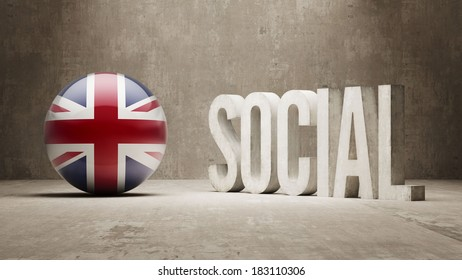 United Kingdom High Resolution Social Concept