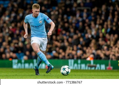 UNITED KINGDOM, MANCHESTER - November 21th 2017: Kevin De Bruyne During the Champions League match Manchester City - Feyenoord at the Etihad Stadium