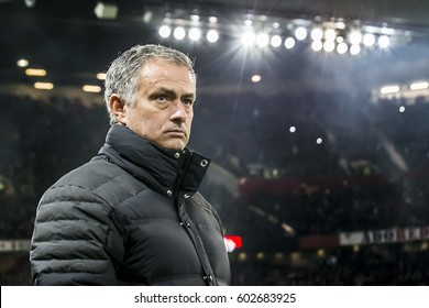 UNITED KINGDOM, MANCHESTER - November 24th 2016: JosŽ Mourinho Trainer / Manager / Coach of Manchester United during the UEFA Europa League match Manchester United - Feyenoord