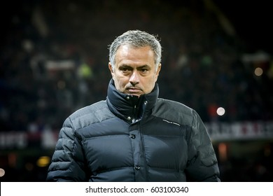 UNITED KINGDOM, MANCHESTER - November 24th 2016:  Jose Mourinho trainer, coach, manager of Manchester United during the UEFA Europa League match Manchester United - Feyenoord