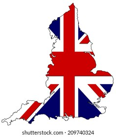 United kingdom map flag 3D