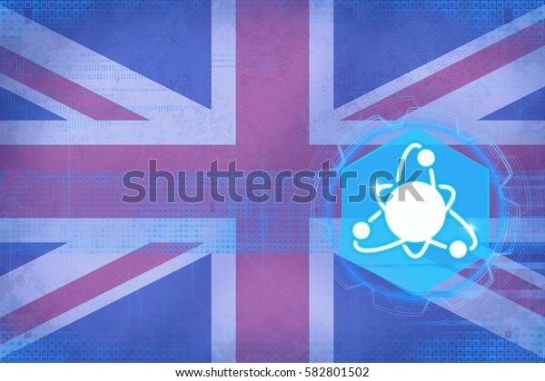 United Kingdom (UK) nuclear energy. Nuclear electricity concept.
