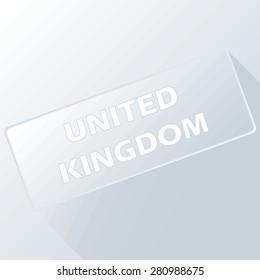 United Kingdom unique button for any design