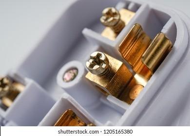 United Kingdon / UK three pin (3 pin) electrical plug socket