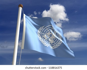 United Nations flag with clipping path (isolated with clipping path)