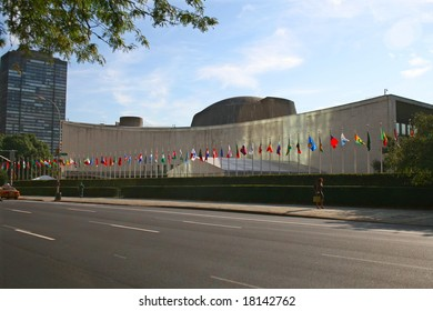United Nations Headquarters during the 2008 General Assembly