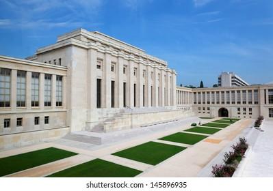 United nations organizations building in Geneva