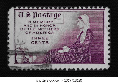 United States Of America - 1934 : Three cent stamp for Mother's Day.