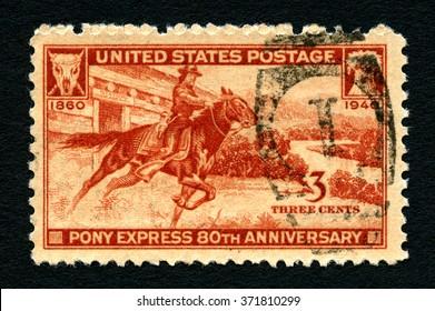 UNITED STATES OF AMERICA - CIRCA 1940: A used postage stamp from the United States of America, celebrating the 80th 