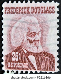 UNITED STATES OF AMERICA - CIRCA 1973: a stamp printed in USA shows Frederick Douglass, leader of the abolitionist movement, circa 1973