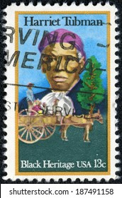UNITED STATES OF AMERICA - CIRCA 1978: a stamp printed in the United States of America shows Harriet Tubman and Cart Carrying Slaves, circa 1978