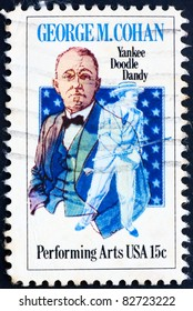 UNITED STATES OF AMERICA - CIRCA 1978: A stamp printed in the United States of America shows George M. Cohan, actor and playwright, circa 1978
